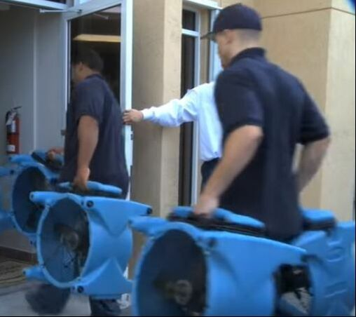 Rapid Drying with Fans Hero Mold Removal Newport News, VA