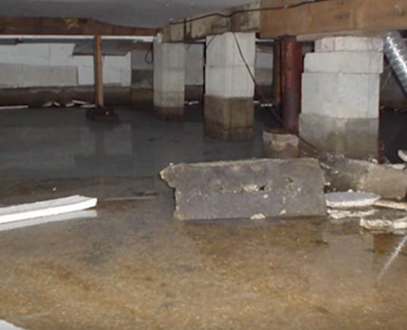 Flooded Crawlspace Before Encapsulation Hero Mold Removal Hampton VA